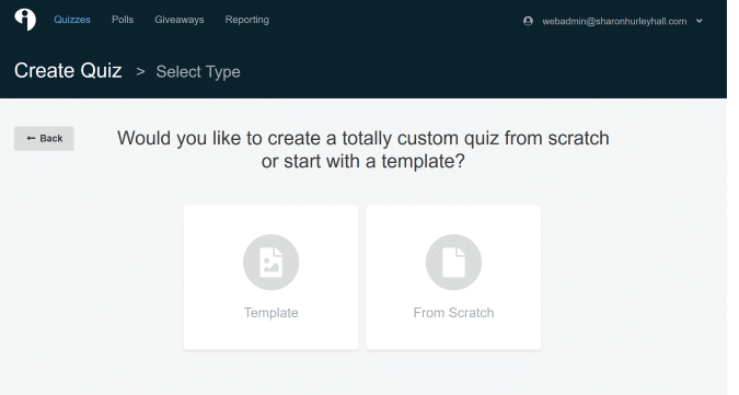 choose interact quiz template
