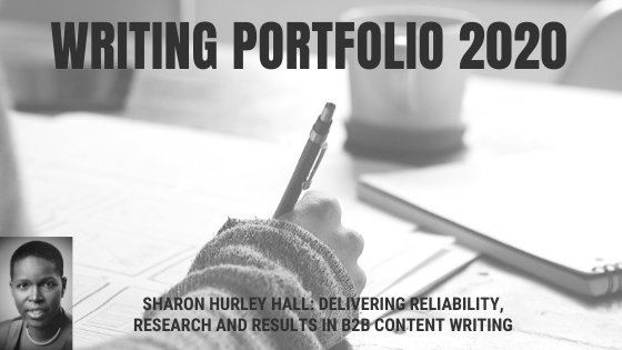 Sharon Hurley Hall - 2020 writing portfolio blog header