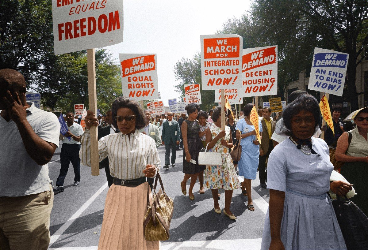 Black women protest for freedom - Photo by Unseen Histories on Unsplash